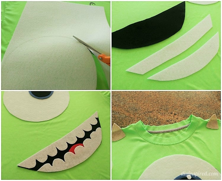 DIY Mike Wazowski Halloween Costume