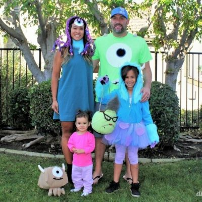 Monster's Inc. Family Halloween Costumes