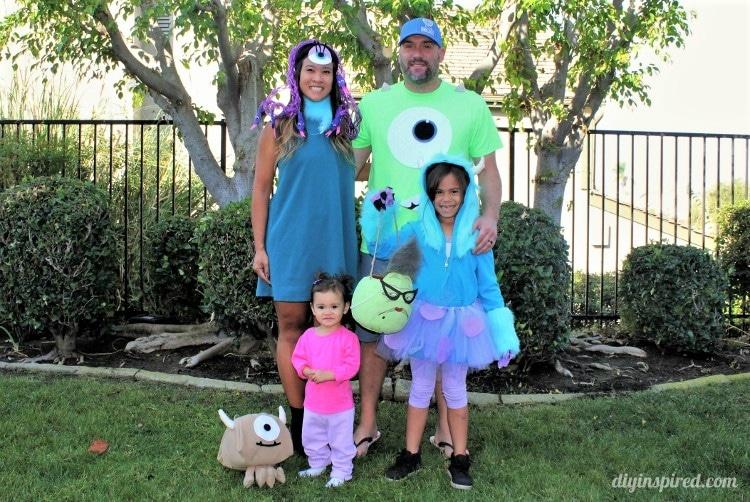 Monster's Inc  Family Halloween Costumes - DIY Inspired