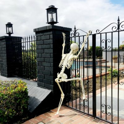 Halloween Decorating with Skeletons
