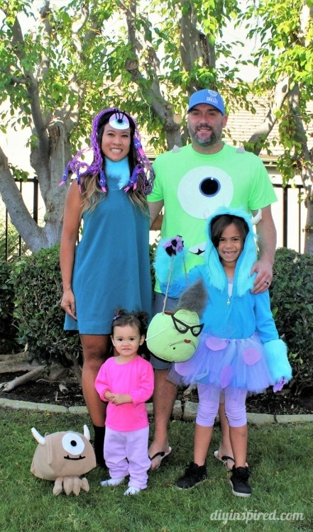 Monster S Inc Family Halloween Costumes Diy Inspired