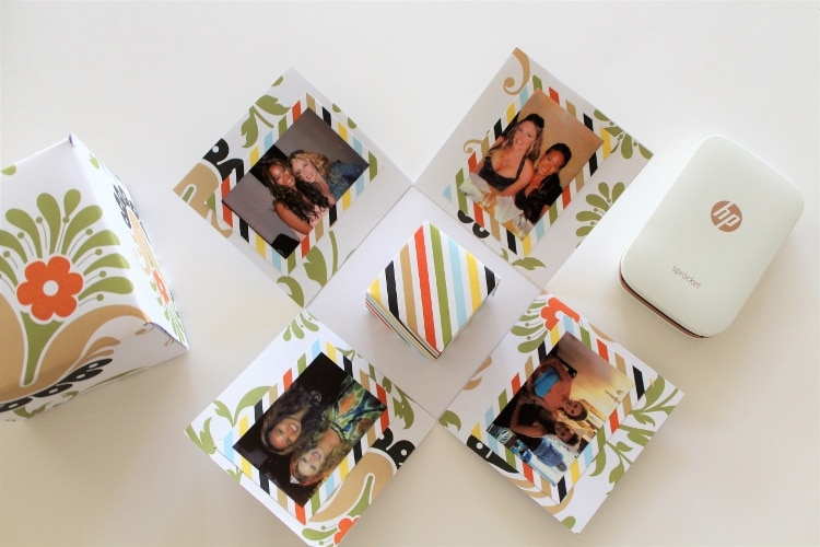 Make this Simple DIY Paper Pop Out Photo Gift Box with Three Sheets of Paper