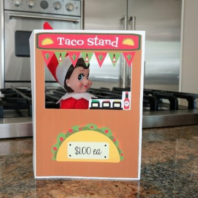 Elf on a Shelf Printable Taco Stand
