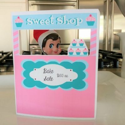 Elf on a Shelf Printable Bake Shop Stand