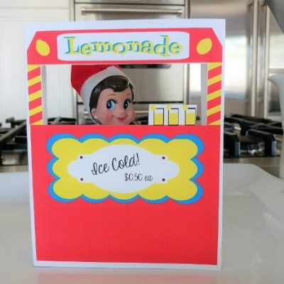 Elf on a Shelf Printable Lemonade Stand