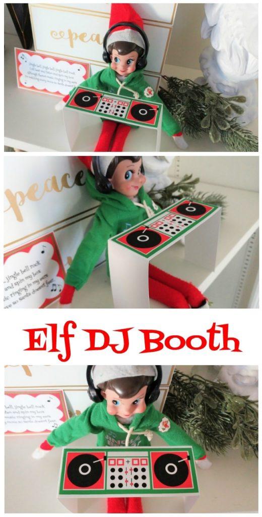 Printable Elf Dj Booth Diy Inspired