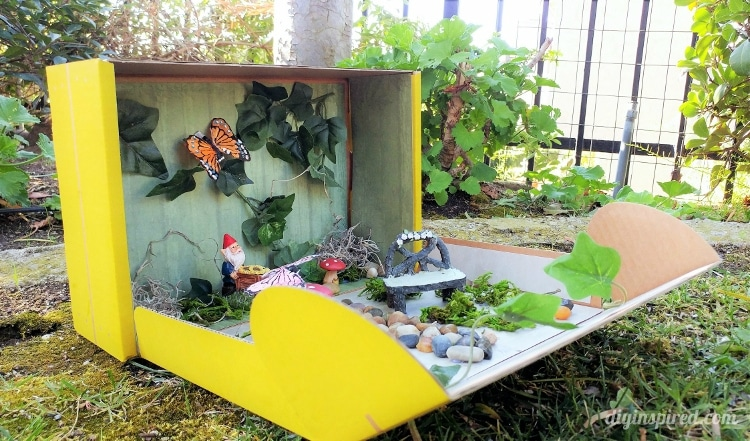 Make an Adorable Portable Fairy Garden out of a KiwiCo Boxes
