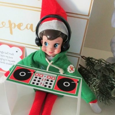 Printable Elf DJ Booth
