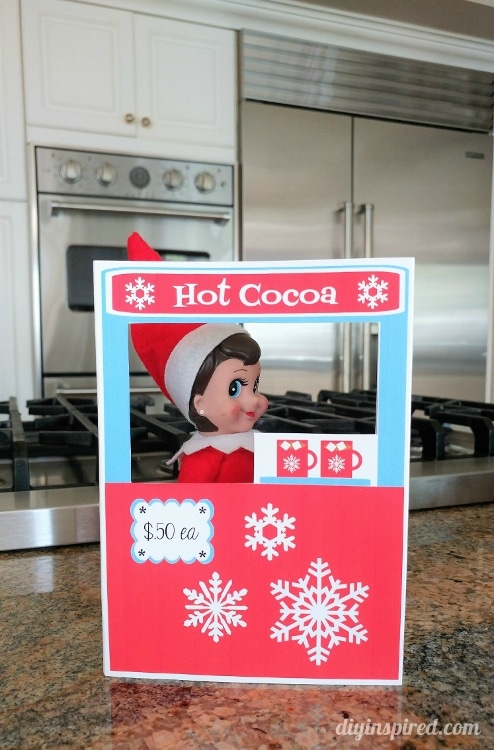 Quick and Easy Download for an Adorable Elf Hot Cocoa Stand