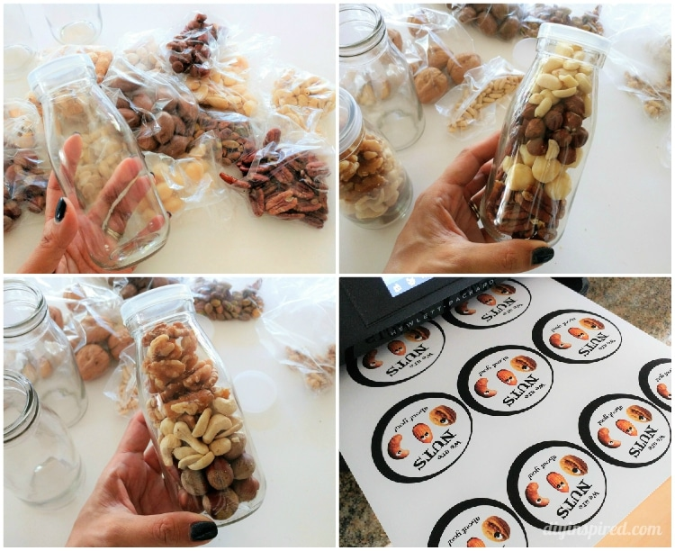 Get a free printable We Are Nuts About You tag for a healthy handmade gift