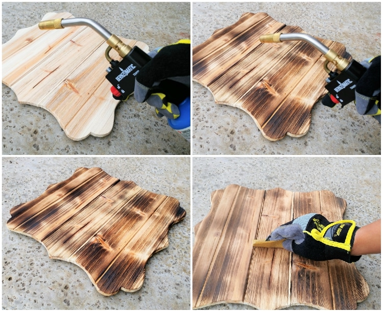 Burn Wood With A Torch Diy Inspired
