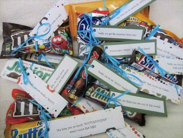 Candy Gift Idea with Candy Sayings Tags