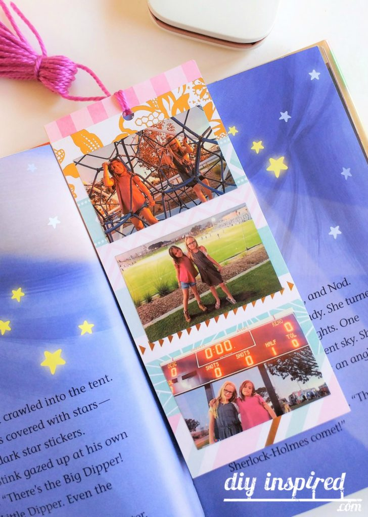 DIY Photo Bookmarks Kids Craft