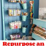 Repurpose an Old Crib for Craft Storage