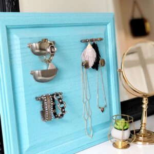 Upcycled Cabinet Door Jewelry Organizer
