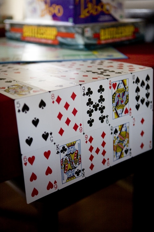 Playing Card Table Runner Diy Inspired