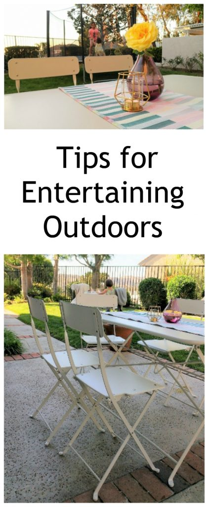 Tips for Outdoor Entertaining While Entertaining the Kids