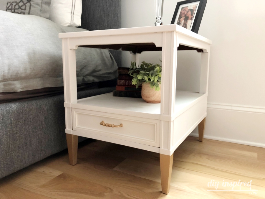 DIY White and Gold Bedside Tables