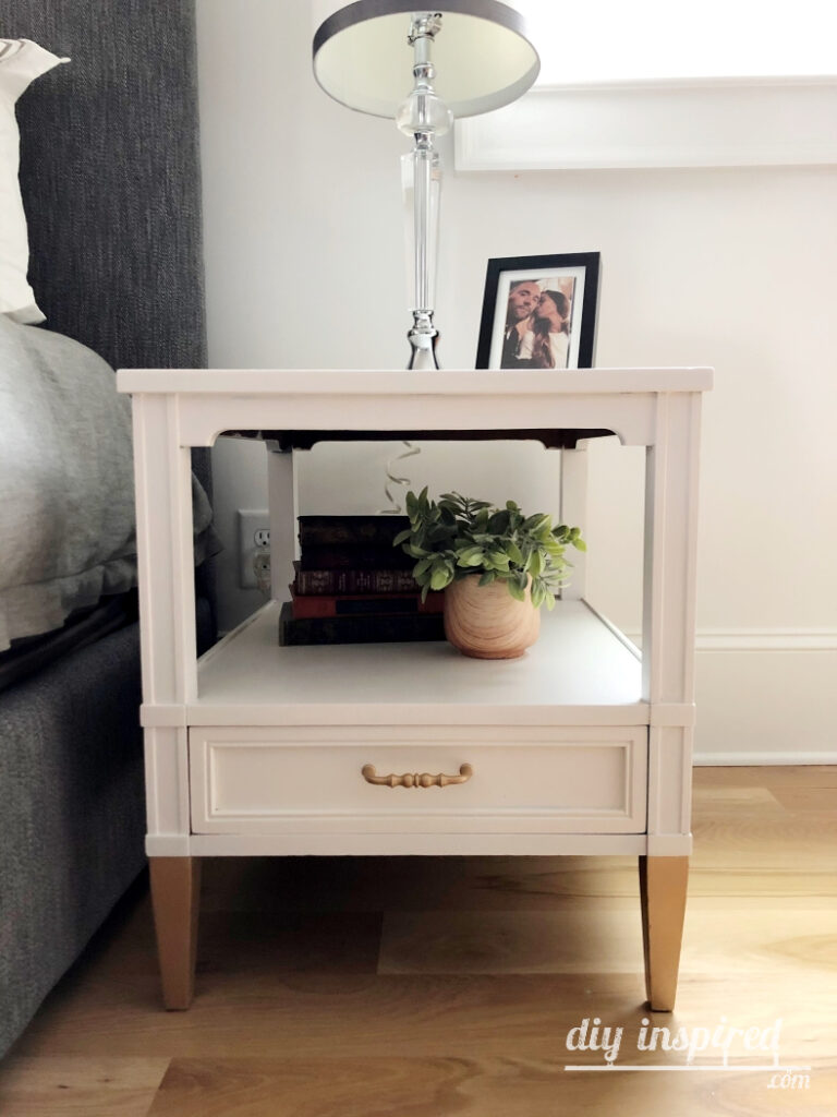 Painted White and Gold Nightstands