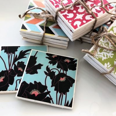 DIY Repurposed Ceramic Tile Coasters