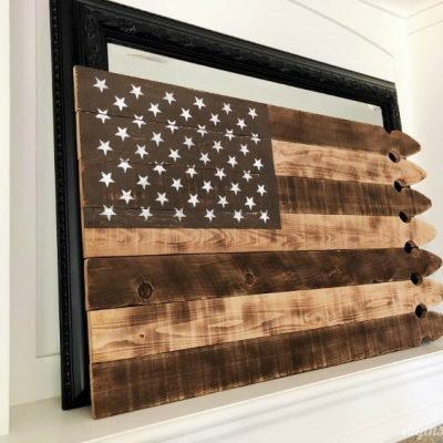 DIY Repurposed American Flag