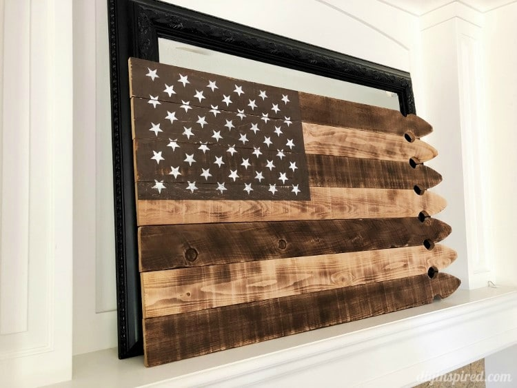 DIY Rustic Upcycled American Flag