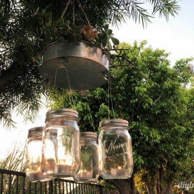 DIY Repurposed Mason Jar Chandelier