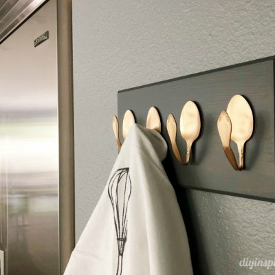 DIY Repurposed Spoon Hooks