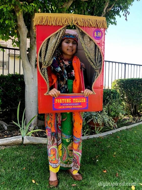 DIY Fortune Teller Booth Halloween Boxtume - DIY Inspired