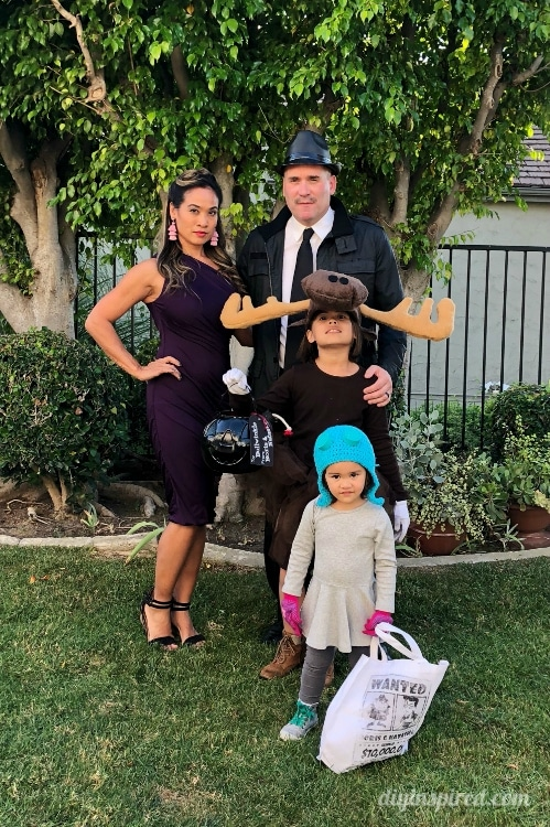 Rocky and Bullwinkle Family Costume