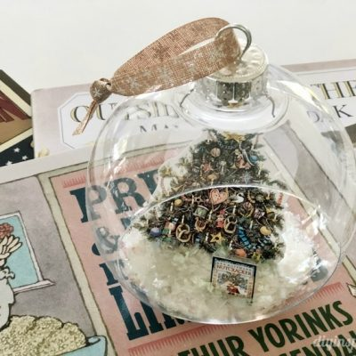 DIY Literary Ornaments and Snow Globes