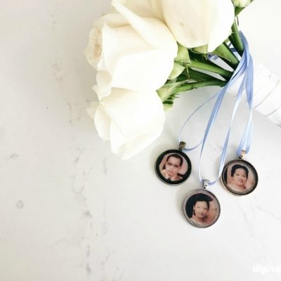 DIY Wedding Bouquet Photo Charms