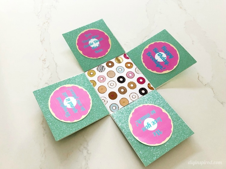 DIY Pop Out Money Gift Box Bottom