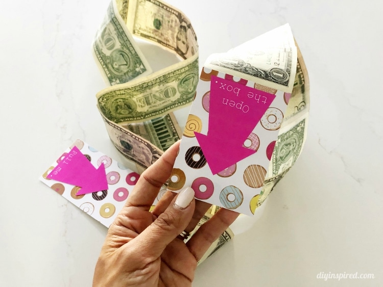 DIY Pop Out Money Gift Box Money String