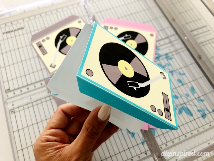 Record Player Template Folding