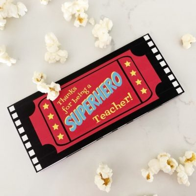 Superhero Teacher Movie Ticket Printable