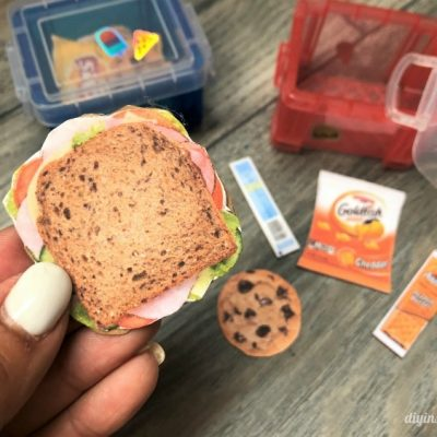 DIY Doll School Lunch