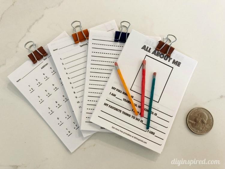 Printable Doll School Worksheets