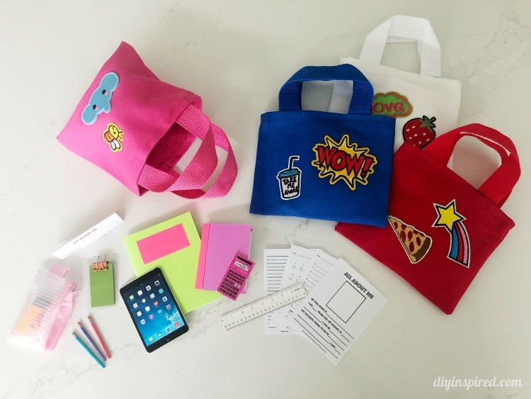 Make Your Own Doll School Supplies