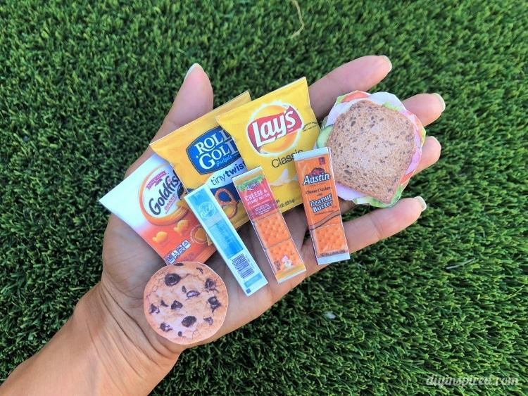 Doll Sized Lunch Food DIY