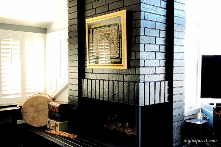 Painted Black Brick Fireplace Diy Inspired