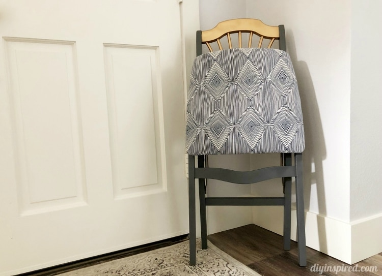 Thrift Store Folding Chair Transformation