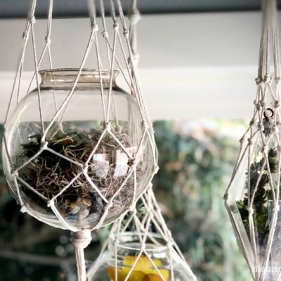 DIY Macramé Hanging Lanterns