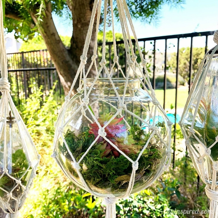 DIY Macramé Hanging Lanterns for Outdoors