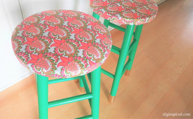 DIY-Stools-Boho-Chic-Emerald-Green-and-Gold