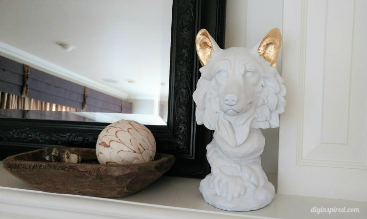 DIY Painted Gold Leaf Statue