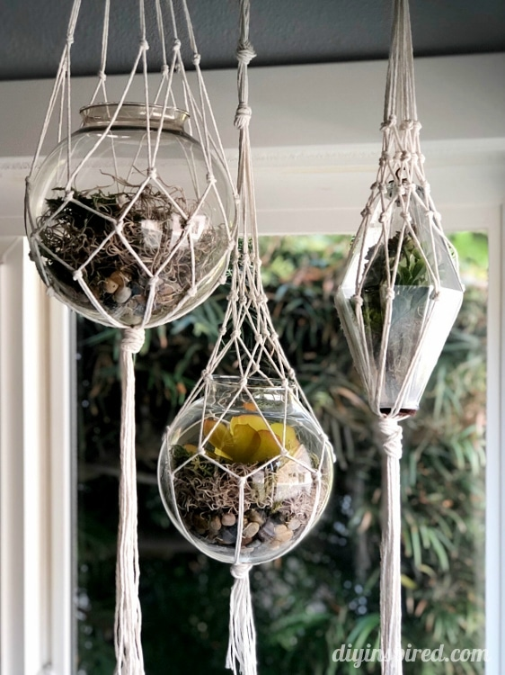 DIY Macramé Hanging Lanterns for Indoors