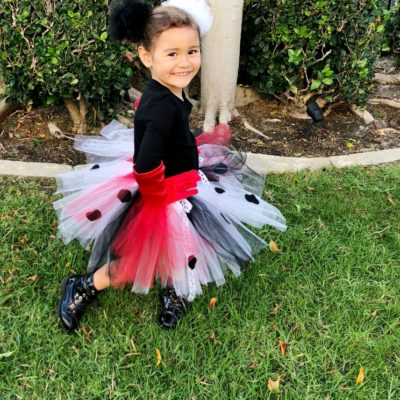 DIY Cruella de Vil Costume for Kids