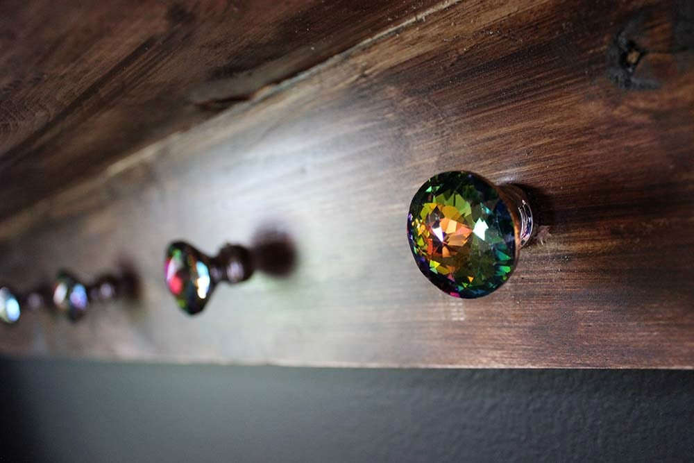 DIY Coat Rack Photo Ledge Knobs