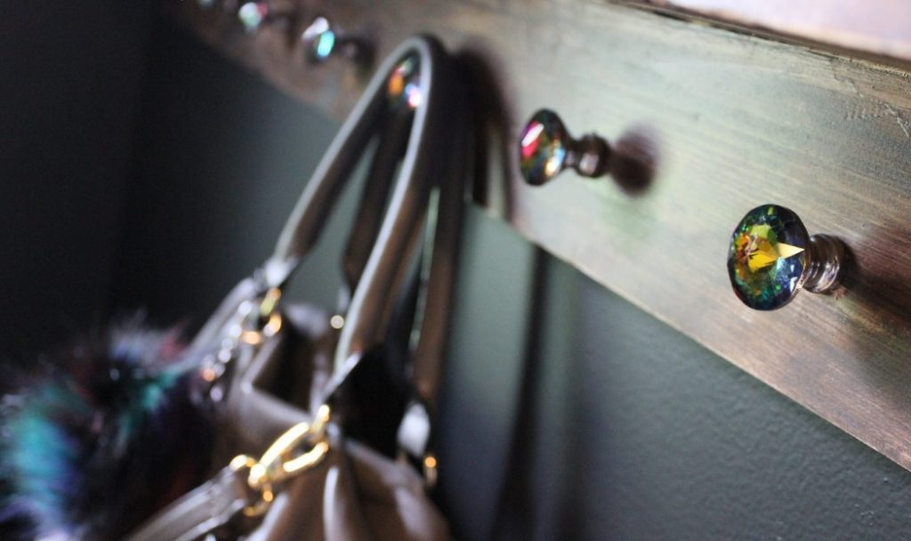 DIY Coat Rack Photo Ledge Rack